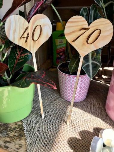 Dřevěné srdce do kytice Věk