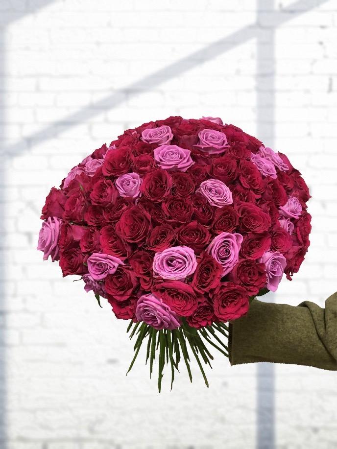 Kytice růží Deluxe Mix 70cm