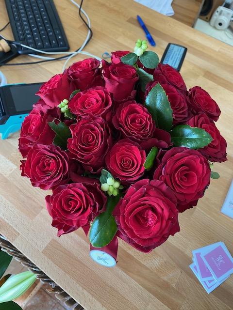 Flower box z růží