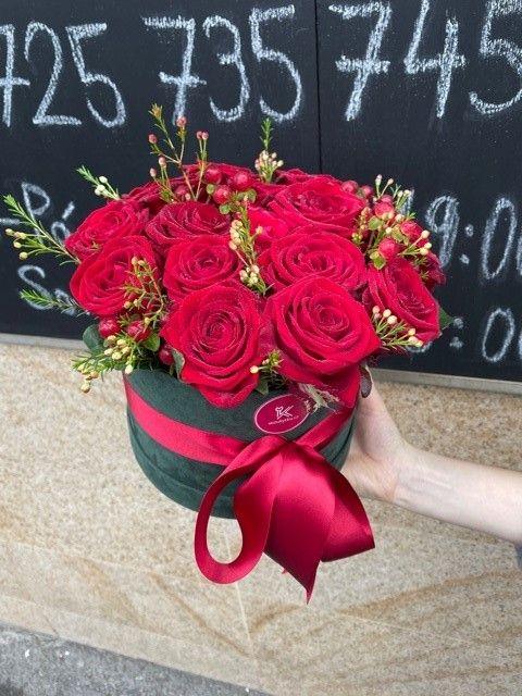 Květinová krabička z růží
