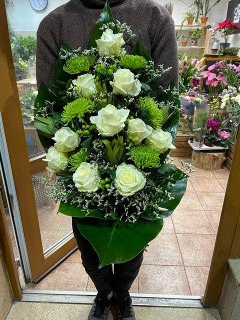 Zelená smuteční kytice Praha