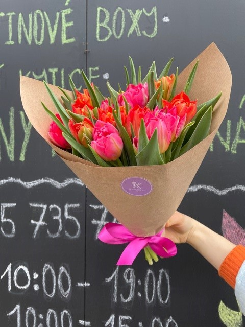 Kytice tulipánů květinářství Praha
