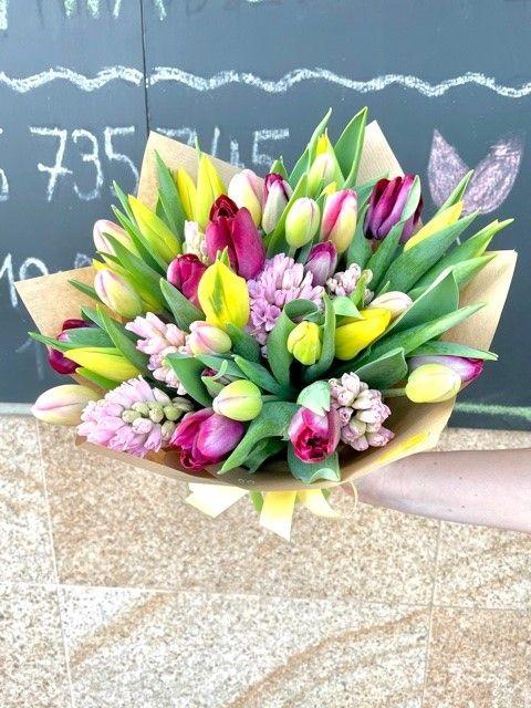 Kytice tulipánů Praha