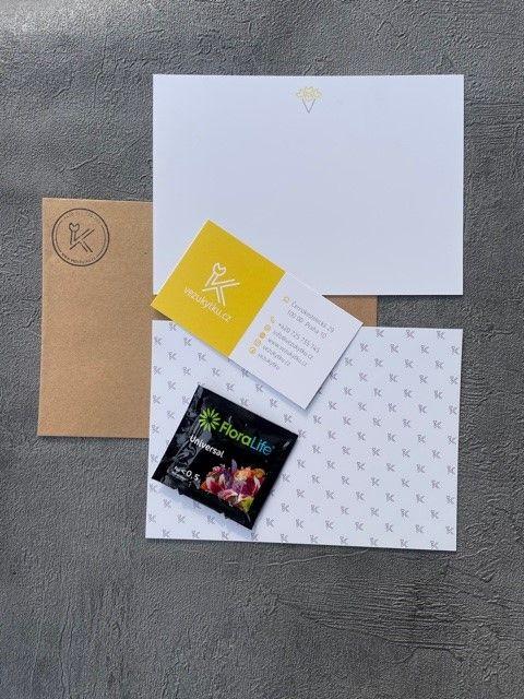 Online květinářství Praha - vzkaz