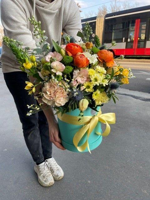 Květinový box z květinářství