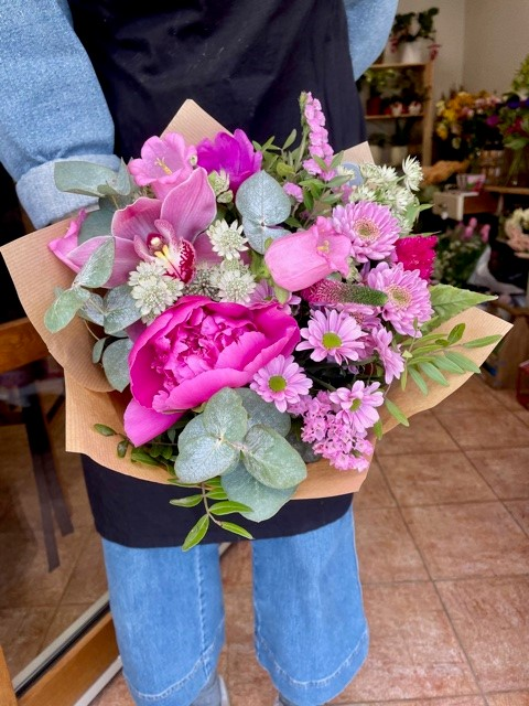 Květinářství online Růžová kytice