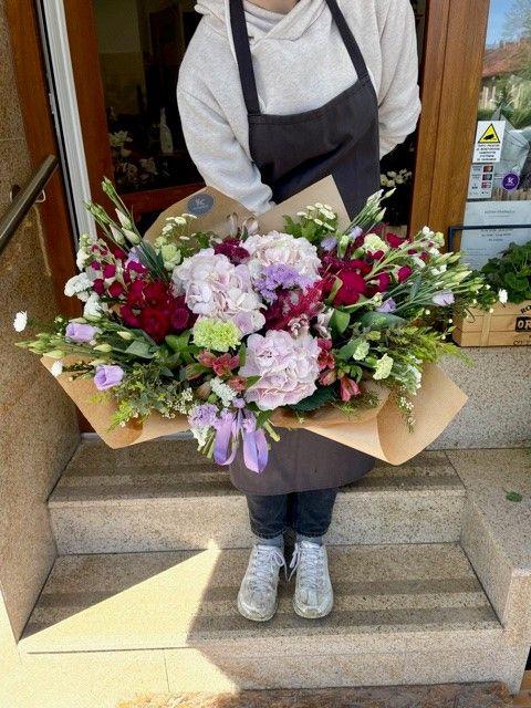 Kytice hortenzií z květinářství Praha