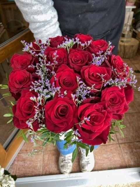 Horní pohled na box z růží
