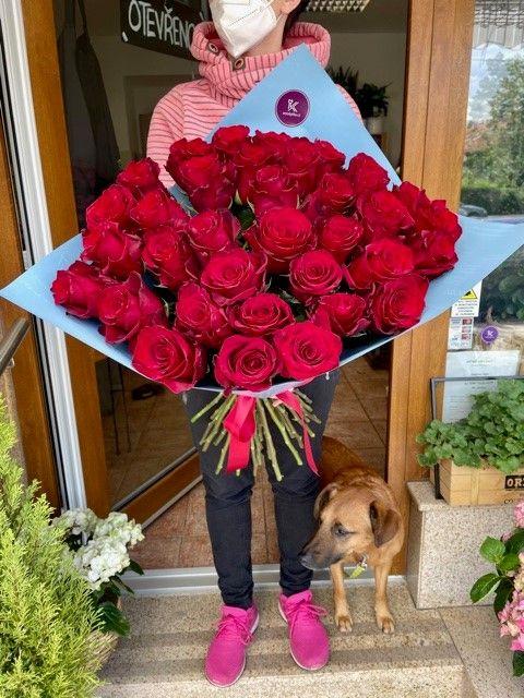 Kytice růží doručení