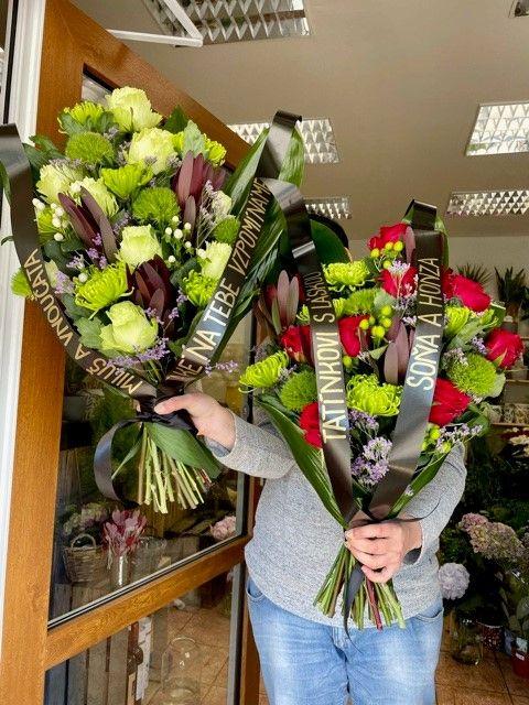 Smuteční kytice velké na položení
