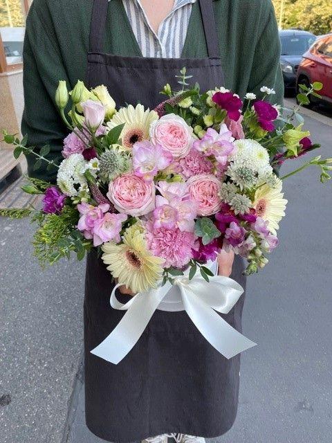 Květinová krabička s hortenzií online Praha