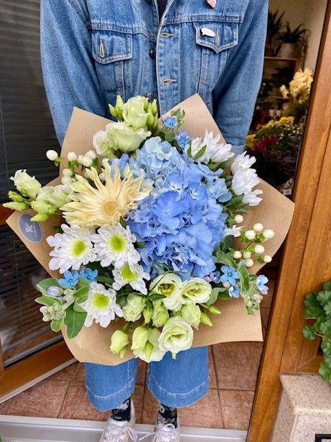 Modré květiny online Praha