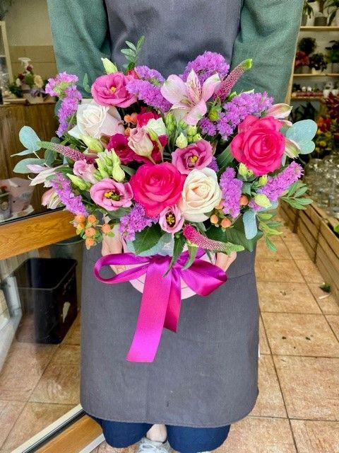Květinový box z online květinářství Praha