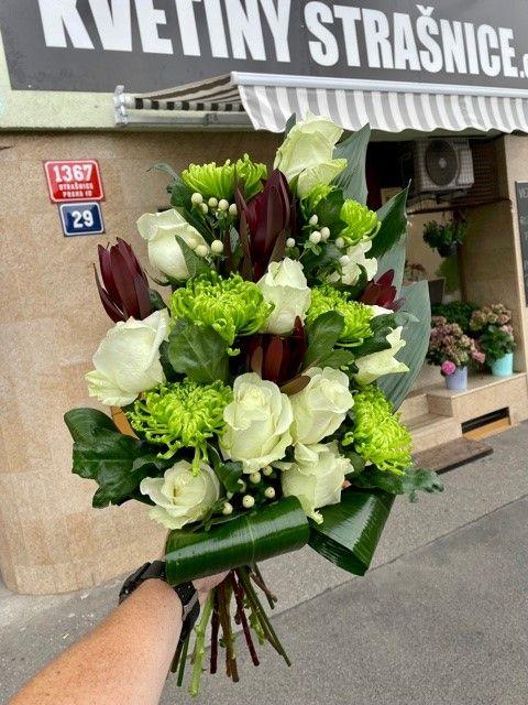 Pohřební kytice na položení Praha