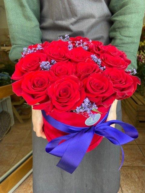 Box z rudých růží online Praha