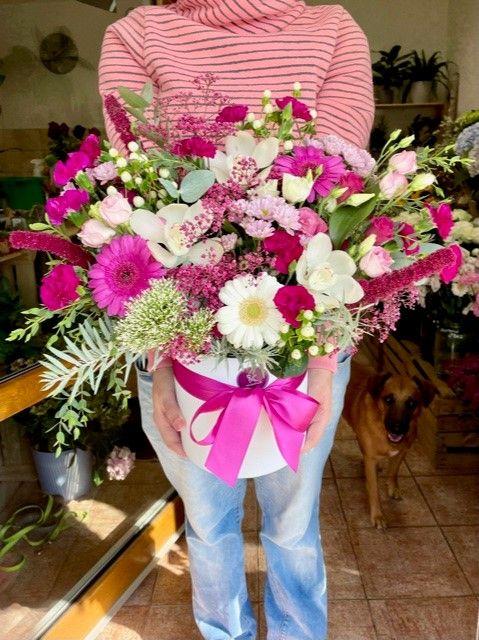 Velká krabice květin Praha