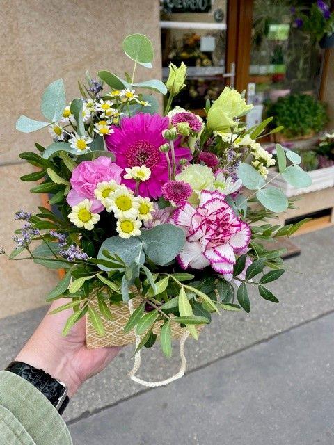 Kytice květin v krabičce online Praha