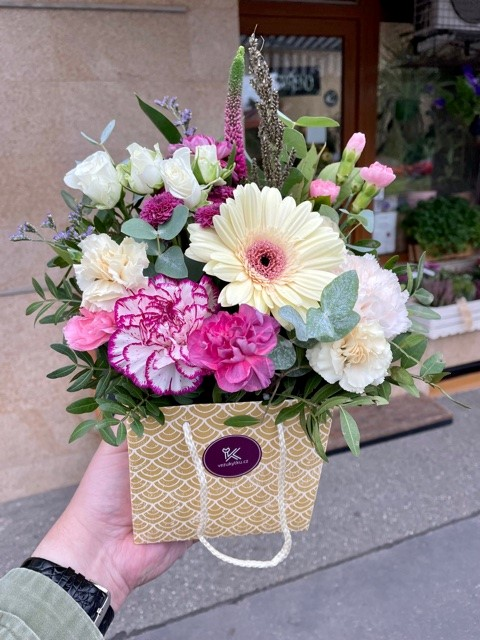 Květiny v krabici online Praha
