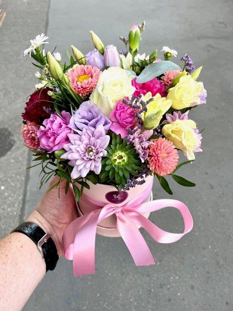 Krabice květin z online květinářství Praha