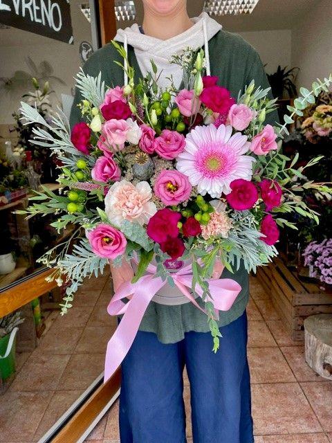 Květinový box z květinářství Praha
