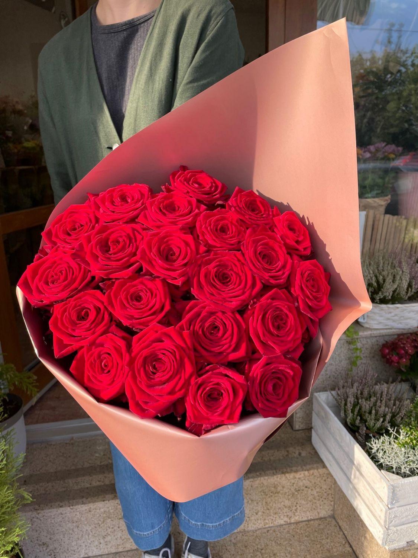 Kytice červených růží květinářství Praha