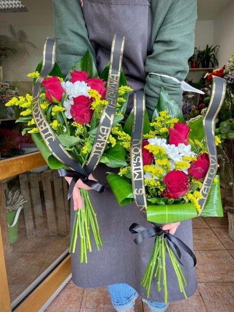 Smuteční květiny na položení Strašnice