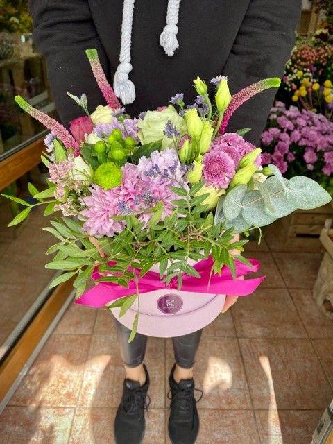 Květinová krabička z květinářství Strašnice