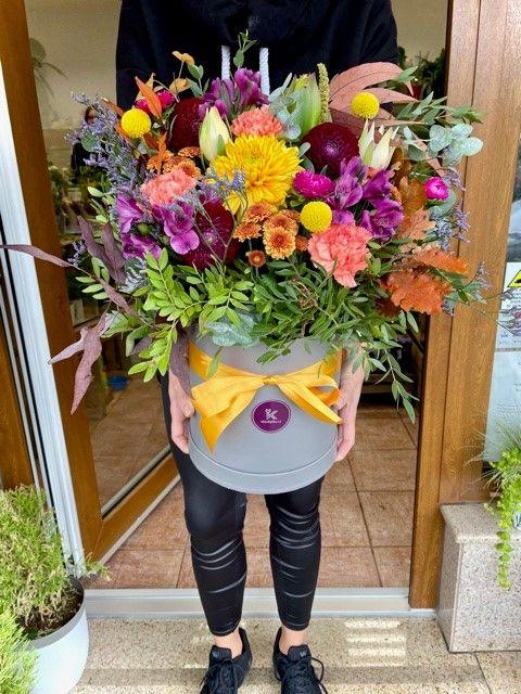 Květiny v krabičce Strašnice
