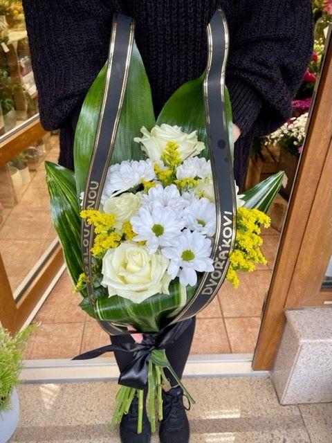 Pohřební kytice na položení