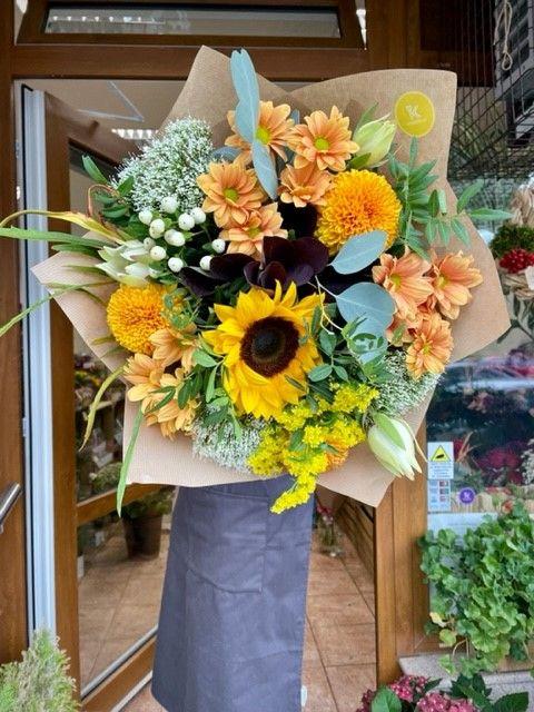 Kytice žlutých květin květinářství Praha