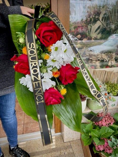 Pohřební květiny na položení Praha
