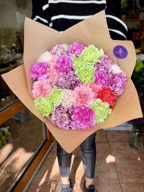 Kytice květin karafiátů
