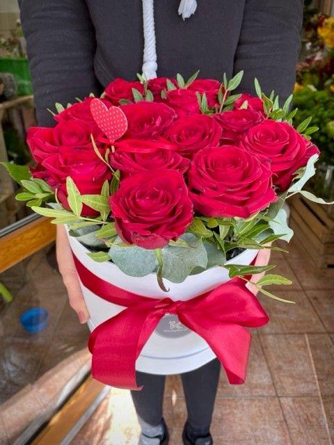 Květinový box z růží Praha
