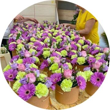 Květiny pro firmy z květinářství Praha VezuKytku
